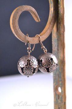 Ohrringe - ✼ Feuermond ✼ Ohrringe - ein Designerstück von LiAnn-Versand bei DaWanda