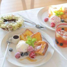 *朝ごはん。 フレンチトーストで朝ごはん♡