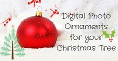 Fill the Christmas tree with gorgeous photos and memories of your loving family…