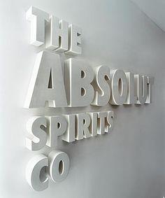 Varying font sizes | Company sign, company signage, logo sign, building signage, reception sign