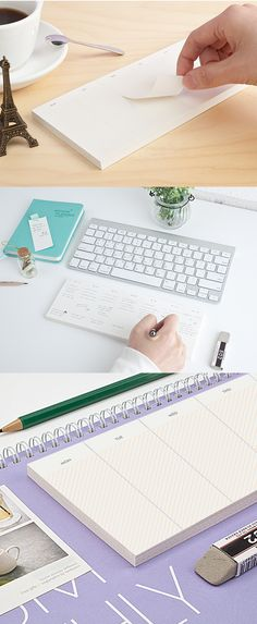 The Weekly Schedule Notepad is an awesome assistance on your desk to help you organize your weekly plans!