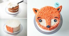 How to Make Fluffy Fox Cake - Cooking - Handimania @audriannalinda maybe we could do raccoon instead of fox :)