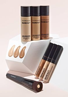 Create the perfect foundation for any makeup look with bareMinerals Pure Brightening Serum Foundation. For seamless, adjustable coverage and a noticeably brighter glow, buff your shade onto skin with the Perfecting Face Brush.