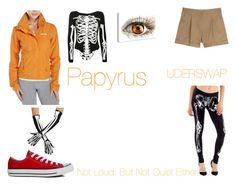 """""""Underswap Papyrus"""" by dietpepsicola-cookie ❤ liked on Polyvore featuring Bench, Valentino, Converse and Pilot"""