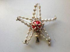 Antique Vintage Christmas Mercury Glass Feather Tree Topper   eBay