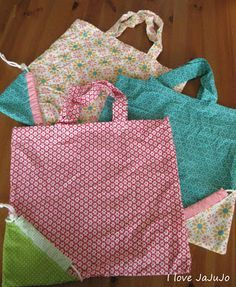 i love jojujanna: Tutorial: Faltbare Einkaufstasche