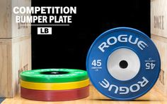 Rogue Competition Plates are an IWF standard in diameter, with zinc-plated steel disc inserts and a collar opening for a firm, stable hold. Get yours today at Rogue! Powerlifting Gym, Half Rack, Metal On Metal, Gloss Matte, Power Bars, Rogue Fitness, Olympic Weightlifting, Garage Gym, At Home Gym