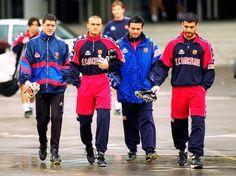 Juan Carlos Busquets (Sergio Busquets' Father), Luis Enrique, José Mourinho and Josep Guardiola.