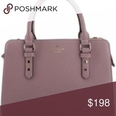 """NWT Kate Spade Kalen Chester Street Satchel Beautiful Mauve/ Dusty Rose Purse new with tags Double handles, detachable shoulder strap 2 top zip compartments and 1 snap closure compartment Pebble leather with polished gold tone hardware Lined Interior zip pocket, two interior slip pockets Exterior zip pocket 13.5""""L x 4.5""""W x 9.5""""H; 4.5"""" handle drop, 18"""" strap drop kate spade Bags"""