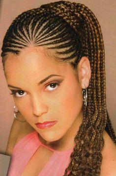 Cornrows braided hairstyles for black women; best black cornrows braided hairstyles that turn heads. Fabulous cornrows braided hairstyles for black women Braided Mohawk Hairstyles, Braided Hairstyles For Black Women, Braided Hairstyles For Wedding, African Braids Hairstyles, Braids For Black Women, Braids For Black Hair, Black Hairstyles, Prom Hairstyles, Latest Hairstyles