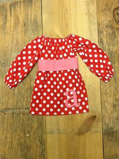 Girls Valentine peasant Dress OR top & sash by EverythingSorella, $42.50