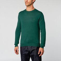 Wool Crew Neck Sweater // Dark Green