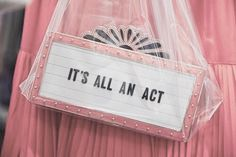 It's all an act ~ aesthetic ~