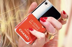 Nail polish bottle iPhone case: http://www.glamzelle.com/collections/whats-glam/products/chanel-nail-polish-iphone-case-holiday-617