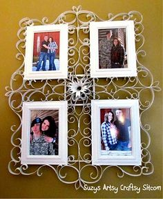 faux metal filigree frame tutorial made from tp tubes