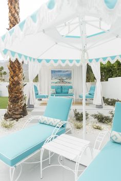 Mid Century Modern Outdoor designs by Gray Malin during Modernism Week.  Outdoor patio furniture is the Phoenician Collection by Amalfi Living.