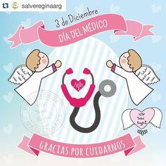 #InstagramELE #salud  #Repost @salvereginaarg with @repostapp.  Saludamos a todos los médicos en su día!! Muy especialmente a esos médicos que no solo brindan un saber sino también una contención y un oído cuando más lo necesitamos. Gracias por cuidarnos!!! #Doctor #DiaDelMedico #FelizDia #Healthy #Gracias #Salud