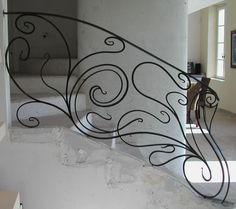 Looking for Home Decor Has Never Been Easier Wrought Iron Handrail, Metal Stair Railing, Staircase Railings, Wrought Iron Gates, Banisters, Stairways, Home Design Living Room, Stairs Architecture, Tree Wall Decor