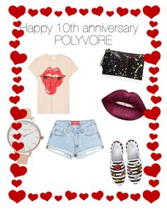"""10th anniversary"" by sw9112451 on Polyvore featuring BP., MadeWorn, Loeffler Randall, Olivia Burton and Lime Crime"