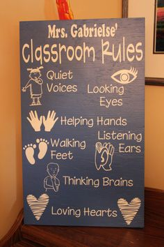 Classroom Rules by rachaelwindemuller on Etsy, $35.00