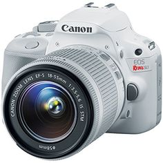 Canon EOS Rebel SL1 Digital SLR Camera & EF-S 18-55mm IS STM Lens (White) with 75-300mm III Lens + 32GB Card + Case + Battery + Tripod + Accessory Kit  http://www.lookatcamera.com/canon-eos-rebel-sl1-digital-slr-camera-ef-s-18-55mm-is-stm-lens-white-with-75-300mm-iii-lens-32gb-card-case-battery-tripod-accessory-kit/