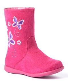 Loving this Fuchsia Embroidered Boot on #zulily! #zulilyfinds