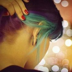 I love crazy colored hair