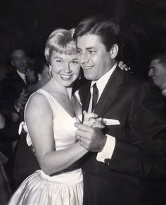 Doris Day with Jerry Lewis on the dance floor...