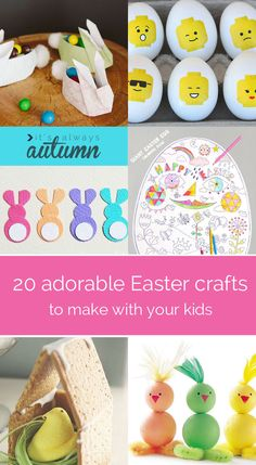 20 fantastic Easter crafts to do with your kids - these are lovely!