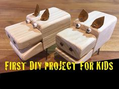 HOW KIDS manufactures BEST WOODEN PIGGY TOY. FUN PROJECT FOR KIDS. First awesome easy woodwork DIY.