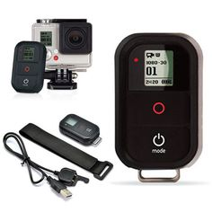 Wireless WiFi Remote Control Shutter With Charging Cable For GoPro Hero