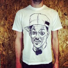 TheBearHug - FRESH PRINCE OF BEL AIR - WILL SMITH - WHITE T-SHIRT
