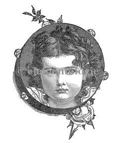 Victorian Image No. 1555 , Printable Digital Image File - elementologie, Vintage Market And Design