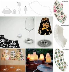 DIY Crafts - Wine Glass Candle Lamps