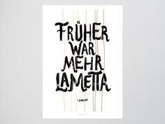 Mehr Lametta / Spruch, Loriot, Früher, Fine Art-Print, Wall-Art, Minimal Poster Art, Typography Art, Premium Poster, Kunstdruck Poster