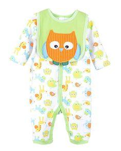 Amazon.com: JiaYou Unisex 3-12M Infant Baby Boy Girl Romper Coverall with Bib: Clothing
