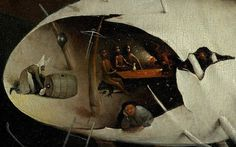 Hieronymus Bosch, Tuin der Lusten,detail. Eind 15 de eeuw