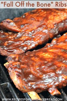 Fall Off the Bone Ribs, Lip Smacking RIBS. The best ribs! Cooked for hours in the oven and then on the grill. http://recipesforourdailybread.com/wp-content/uploads/2014/05/Fall-Off-the-Bone-Ribs/ #ribs #bbq #barbecue