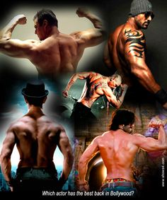Which actor has the best back in Bollywood?