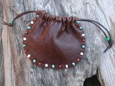 Leather Pouch Bag  Native American   Spirit by Shirlbcreationstoo, $30.00