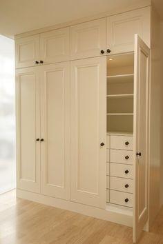 Linear closet... Cute little look like built in...