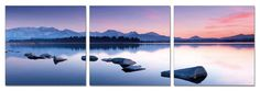 48 Arctic Lake Mirage. 3 Panel Giclee Framed and Ready by USADECOR