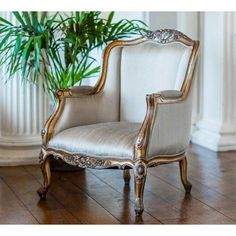 Versailles Daddy Gold Armchair - French Bedroom Chair