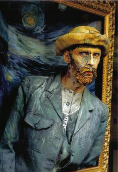 Chris Channing living painting - 'van Gogh self protrait'