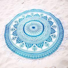 Aqua Mandala Roundie from https://thebohemianshop.com