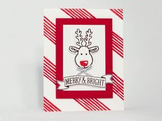 reindeer-2 ~Cookie Cutter Christmas, Basket For You hostess, Stitched With Cheer stamp sets