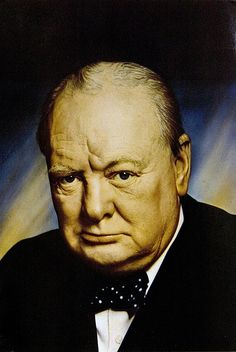 Sir Winston Churchill. (1874-1965). British statesman and Prime Minister of the United Kingdom from 1940 to 1945 and again from 1951 to 1955.