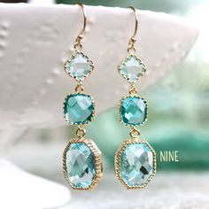 something blue earrings (by ten things)