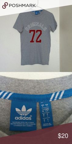 Grey Adidas Shirt This top is in amazing condition and in a size small. Adidas Tops Tees - Short Sleeve