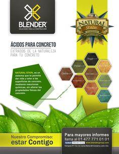 Pigmentación con ácidos traídos de la naturaleza para tu concreto